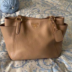 Prada tan handbag